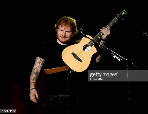 Recording artist Ed Sheeran performs onstage during the 2015 Billboard Music Awards at MGM Grand Garden Arena on May 17 2015 in Las Vegas Nevada