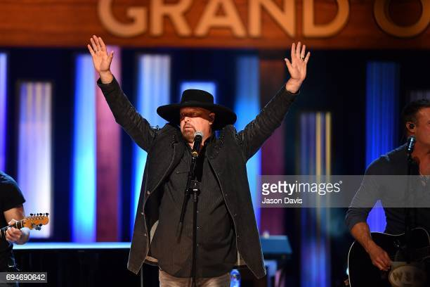 Recording Artist Eddie Montgomery of Montgomery Gentry performs onstage at The Grand Ole Opry on June 10 2017 in Nashville Tennessee