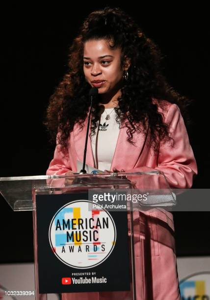 Recording Artist Ella Mai attends the '2018 American Music Awards' nominations announcement at YouTube Space LA on September 12 2018 in Los Angeles...