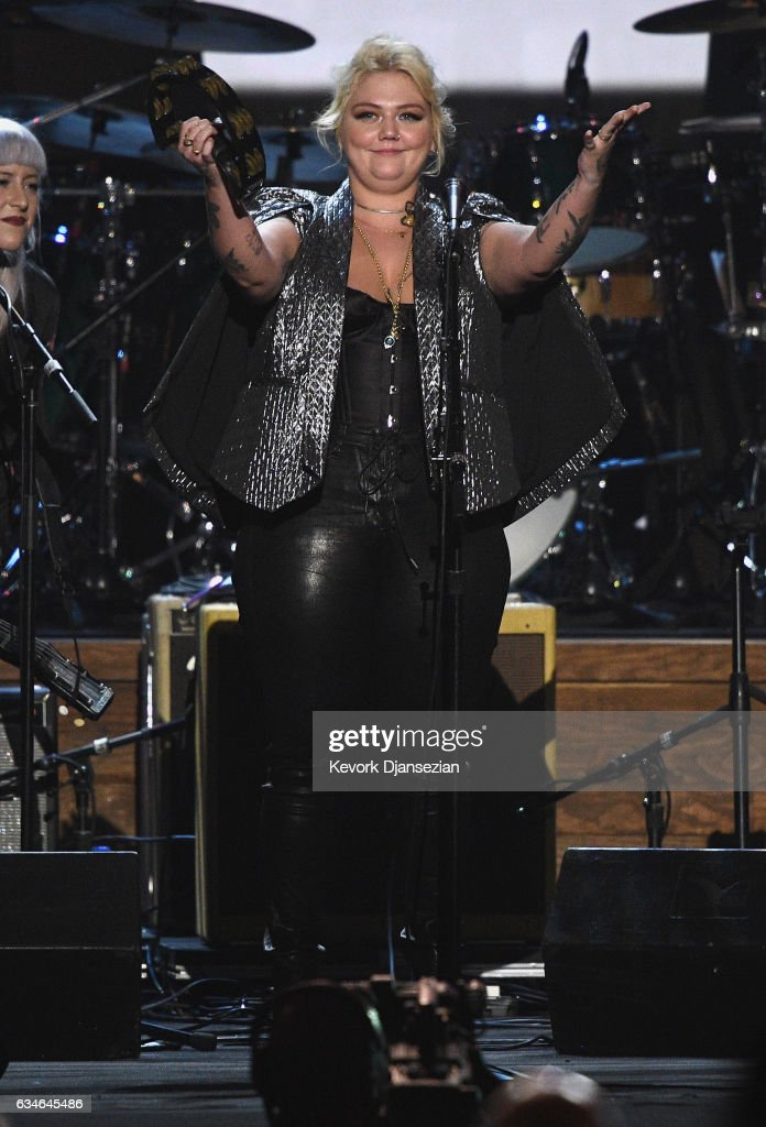 Recording artist Elle King performs onstage during MusiCares Person of the Year honoring Tom Petty at the Los Angeles Convention Center on February 10, 2017 in Los Angeles, California.