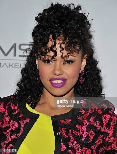 """Recording artist Elle Varner arrives at BET Network's Music Matters Showcase """"Lipstick On The Mic"""" at Belasco Theatre on February 8, 2013 in Los..."""