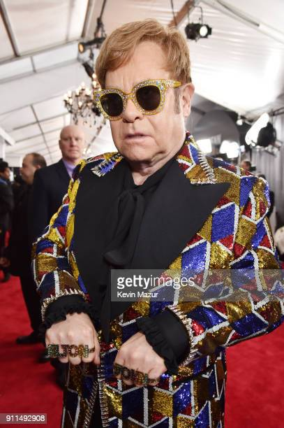 Recording artist Elton John attends the 60th Annual GRAMMY Awards at Madison Square Garden on January 28 2018 in New York City