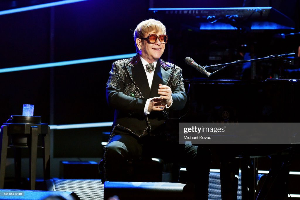 Recording Artist Elton John performs onstage during 60th Annual GRAMMY Awards - I'm Still Standing: A GRAMMY Salute To Elton John at the Theater at Madison Square Garden on January 30, 2018 in New York City.