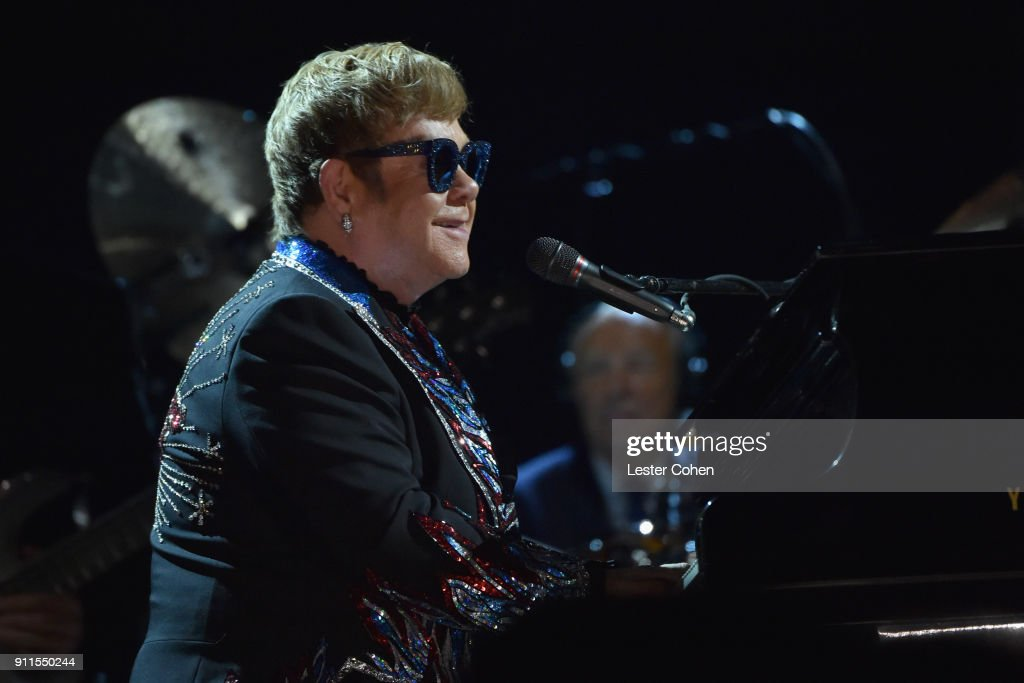 Recording artist Elton John performs onstage during the 60th Annual GRAMMY Awards at Madison Square Garden on January 28, 2018 in New York City.
