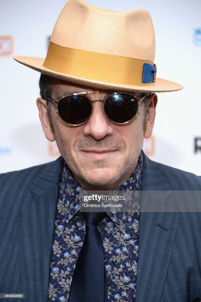 Recording artist Elvis Costello attends the ''Supermensch: The Legend Of Shep Gordon' screening at The Museum of Modern Art on May 29, 2014 in New York City.