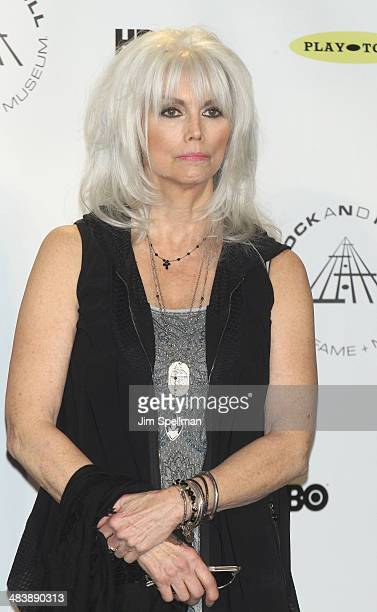 Recording artist Emmylou Harris attends the 29th Annual Rock And Roll Hall Of Fame Induction Ceremony at Barclays Center of Brooklyn on April 10 2014...