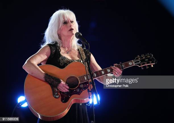 Recording artist Emmylou Harris performs onstage during the 60th Annual GRAMMY Awards at Madison Square Garden on January 28 2018 in New York City
