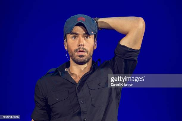 Recording artist Enrique Iglesias performs on stage at Valley View Casino Center on October 22, 2017 in San Diego, California.