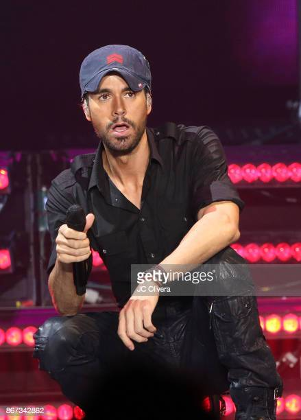 Recording artist Enrique Iglesias performs onstage at The Forum on October 27 2017 in Inglewood California