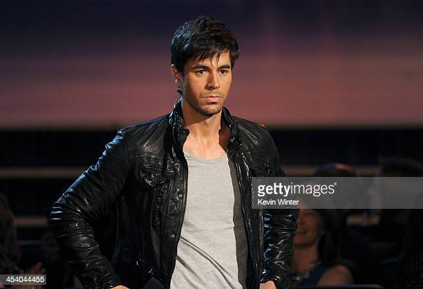 Recording artist Enrique Iglesias speaks onstage during The GRAMMY Nominations Concert Live!! Countdown to Music's Biggest Night at Nokia Theatre...
