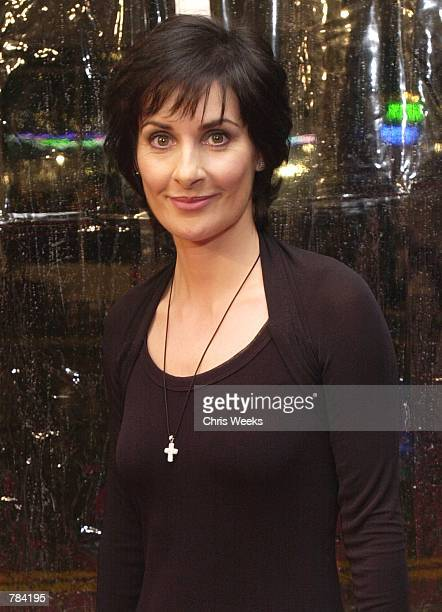 Recording artist Enya arrives at the premiere of Warner Bros'' Sweet November February 12 2001 in Westwood CA
