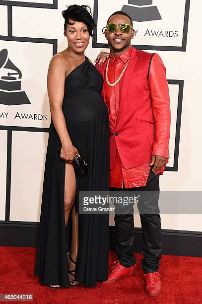 Recording artist Eric Bellinger and RB singer La'Myia Good attend The 57th Annual GRAMMY Awards at the STAPLES Center on February 8 2015 in Los...