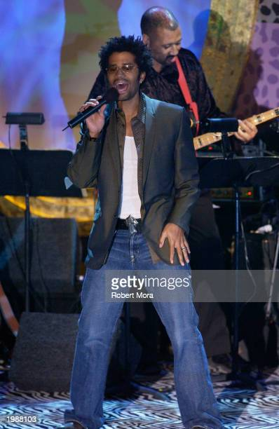 Recording Artist Eric Benet performs at the 10th Annual Race to Erase MS at the Century Plaza Hotel on May 9 2003 in Century City California