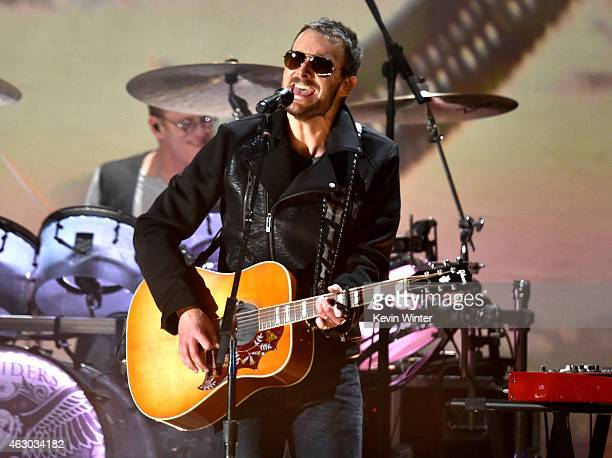 Recording artist Eric Church performs onstage during The 57th Annual GRAMMY Awards at the STAPLES Center on February 8 2015 in Los Angeles California