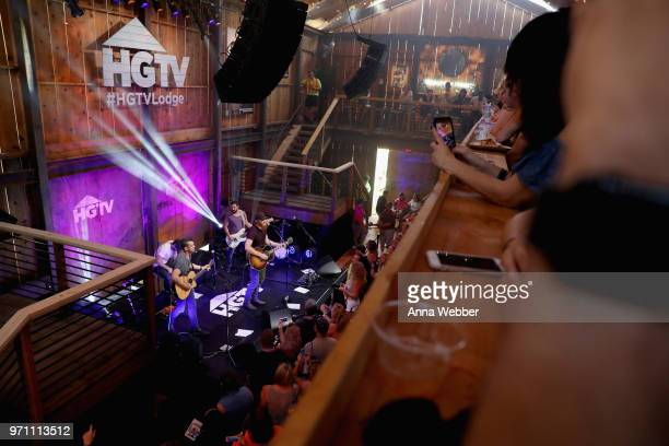 Recording artist Eric Paslay performs onstage in the HGTV Lodge at CMA Music Fest on June 10 2018 in Nashville Tennessee