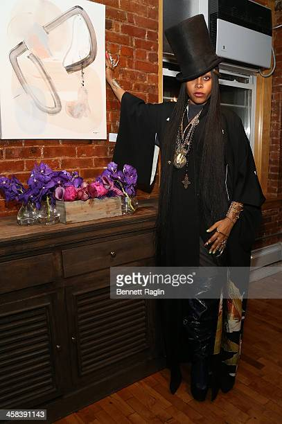Recording artist Erykah Badu attends the Soul Train Soul Food Vegan Dinner Party on November 21 2016 in New York City