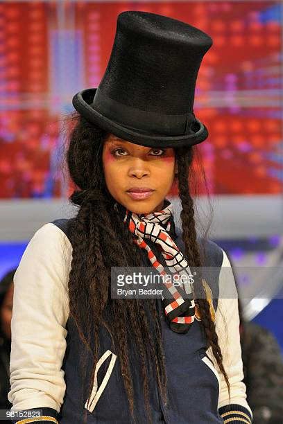 Recording artist Erykah Badu visits BET's 106 Park at BET Studios on March 29 2010 in New York City