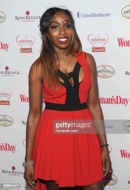 Recording artist Estelle arrives as American Heart Association celebrates the 10th Year of Go Red For Women at The Woman's Day Red Dress Awards at...