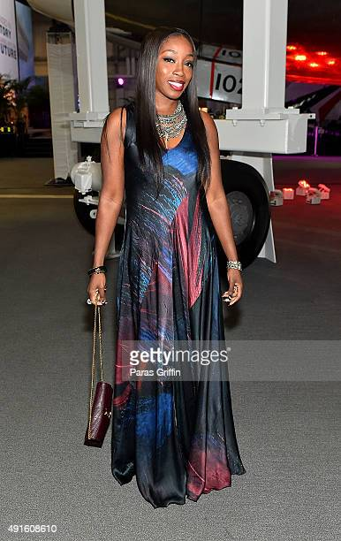 Recording artist Estelle attends Grounded in History Soaring into the Future Rev Joseph E Lowery's 94th Birthday Celebration at Delta flight Museum...