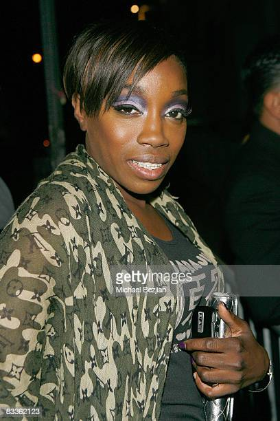Recording artist Estelle attends Love Sessions on October 17 2008 in Los Angeles California