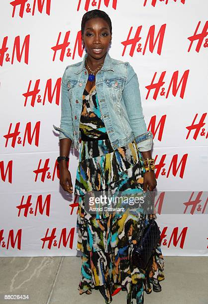 Recording artist Estelle attends the unveiling of the Fashion Against AIDS Collection at H&M Lexington Avenue May 27, 2009 in New York City.