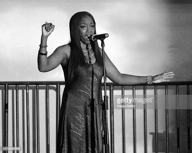 Recording artist Estelle performs onstage at Grounded in History, Soaring into the Future: Rev. Joseph E. Lowery's 94th Birthday Celebration at Delta...