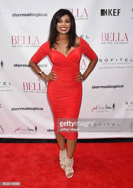 Recording artist Ezina attends the BELLA Los Angeles Summer Issue Cover Launch Party at Sofitel Los Angeles At Beverly Hills on June 23 2017 in Los...