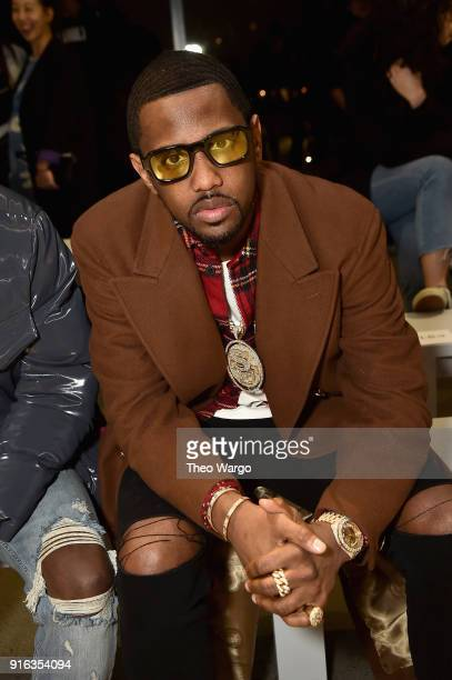 Recording artist Fabolous attends the Matthew Adams Dolan front row during New York Fashion Week Presented by Made at Gallery II at Spring Studios on...