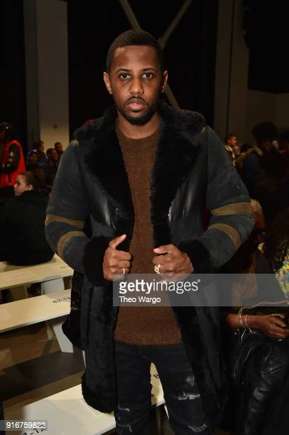 Recording artist Fabolous attends the Pyer Moss fashion show during New York Fashion Week The Shows at Gallery I at Spring Studios on February 10...