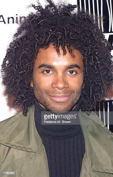 Recording artist Fabrice Morvan attends the Last Chance For Animals fundraiser party on February 12 2003 in Los Angeles California The event benefits...