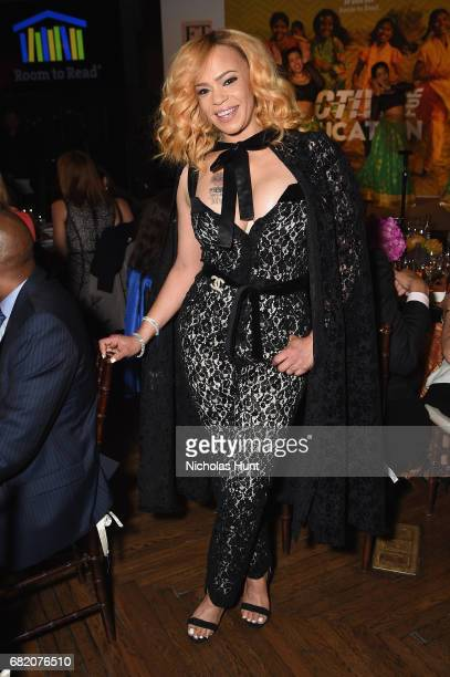 Recording artist Faith Evans at the Room to Read event honoring Sean Diddy Combs David M Solomon for Impact On Global Education at 2017 New York Gala...