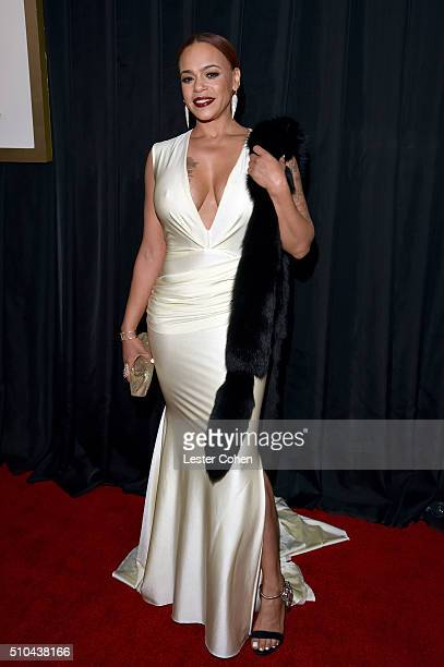 Recording artist Faith Evans attends The 58th GRAMMY Awards at Staples Center on February 15 2016 in Los Angeles California