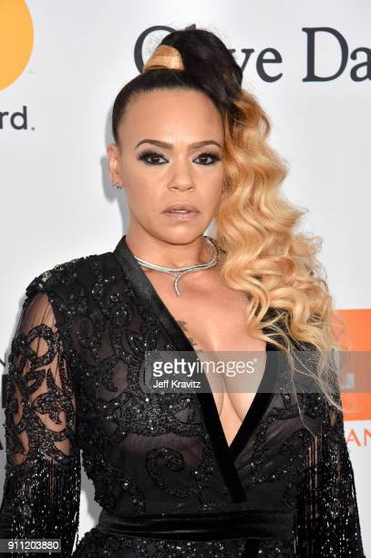 Recording artist Faith Evans attends the Clive Davis and Recording Academy Pre-GRAMMY Gala and GRAMMY Salute to Industry Icons Honoring Jay-Z on...
