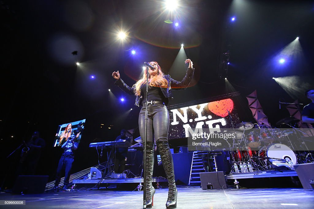 Recording artist Faith Evans performs during Ladies Night R&B Super Jam 2016 at Barclays Center of Brooklyn on February 12, 2016 in New York City.