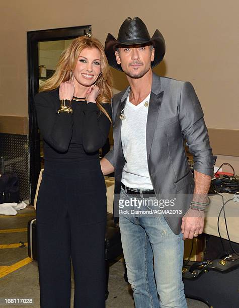 Recording Artist Faith Hill and host Tim McGraw attend Tim McGraw's Superstar Summer Night presented by the Academy of Country Music at the MGM Grand...