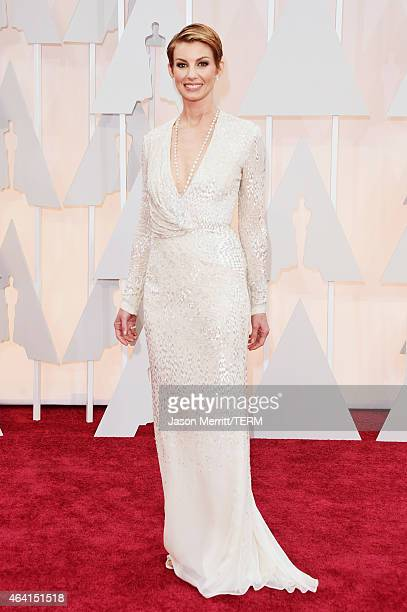 Recording artist Faith Hill attends the 87th Annual Academy Awards at Hollywood Highland Center on February 22 2015 in Hollywood California