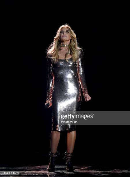 Recording artist Faith Hill performs during the 52nd Academy of Country Music Awards at TMobile Arena on April 2 2017 in Las Vegas Nevada