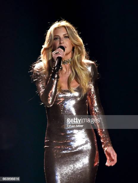 Recording artist Faith Hill performs onstage during the 52nd Academy of Country Music Awards at TMobile Arena on April 2 2017 in Las Vegas Nevada