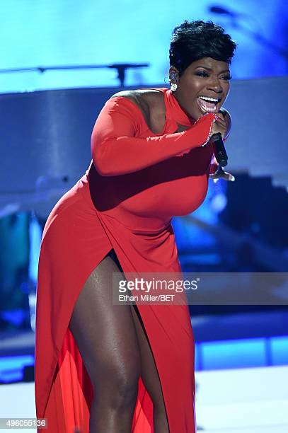Recording artist Fantasia Barrino performs onstage during the 2015 Soul Train Music Awards at the Orleans Arena on November 6 2015 in Las Vegas Nevada