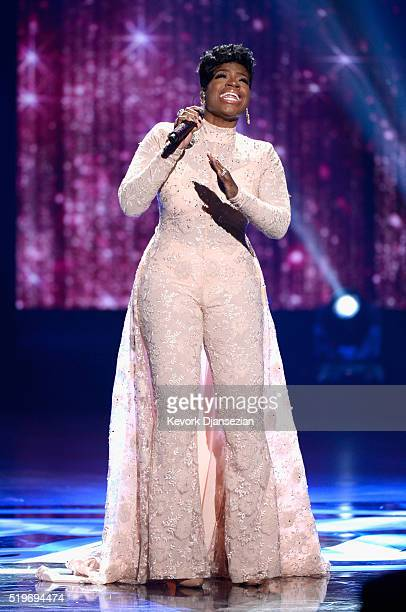 Recording artist Fantasia performs onstage during FOX's American Idol Finale For The Farewell Season at Dolby Theatre on April 7 2016 in Hollywood...