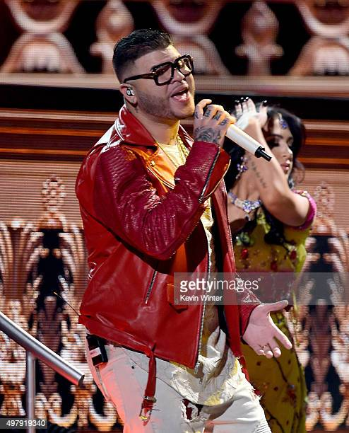 Recording artist Farruko performs onstage during the 16th Latin GRAMMY Awards at the MGM Grand Garden Arena on November 19 2015 in Las Vegas Nevada