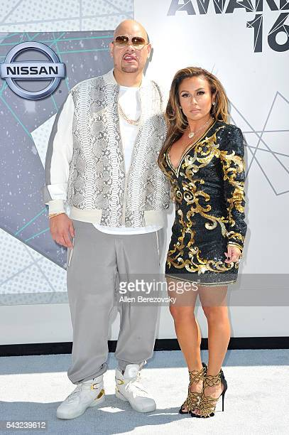 Recording artist Fat Joe and Lorena Cartagena attend the 2016 BET Awards at Microsoft Theater on June 26 2016 in Los Angeles California