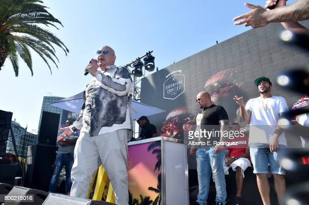 Recording artist Fat Joe attends day one of the Pool Groove sponsored by McDonald's during the 2017 BET Experience at Gilbert Lindsey Plaza on June...