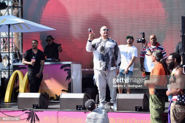 Recording artist Fat Joe performs onstage at day one of the Pool Groove sponsored by McDonald's during the 2017 BET Experience at Gilbert Lindsey...