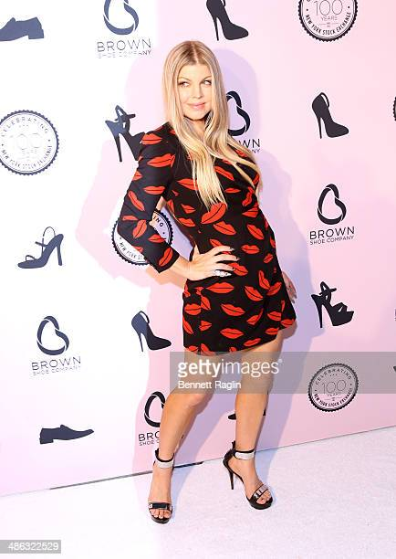 Recording artist Fergie attends the Brown Shoe Company Celebrates 100 Years on New York Stock Exchange event at 4 World Trade Center on April 23 2014...