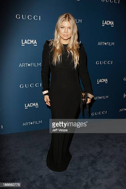 Recording Artist Fergie attends the LACMA 2013 Art + Film Gala honoring Martin Scorsese and David Hockney presented by Gucci at LACMA on November 2,...