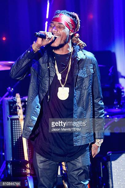 Recording artist Fetty Wap performs onstage during the 2016 PreGRAMMY Gala and Salute to Industry Icons honoring Irving Azoff at The Beverly Hilton...