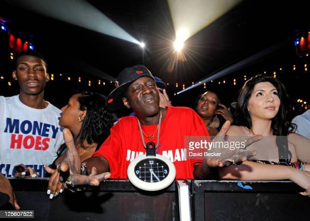 Recording artist Flavor Flav appears at The Pearl concert theater at the Palms Casino Resort on September 18 2011 in Las Vegas Nevada