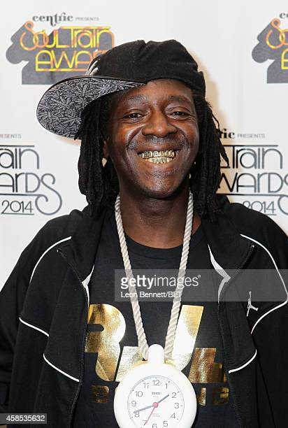 Recording artist Flavor Flav attends day 1 of the 2014 Soul Train Music Awards Gifting Suite at the Orleans Arena on November 6 2014 in Las Vegas...