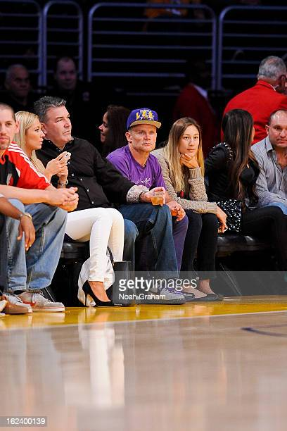 Recording artist Flea attends a game between the Portland Trail Blazers and Los Angeles Lakers at Staples Center on February 22 2013 in Los Angeles...
